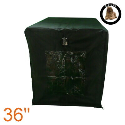 """Black Waterproof Cage Cover for Large 36"""" Dog Carrier Crate"""