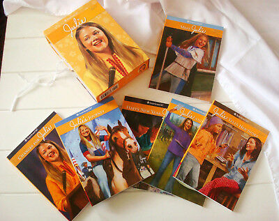 Complete BOX Set Lot of 6 JULIE American Girl Books W/ Game 1-6 History Fiction