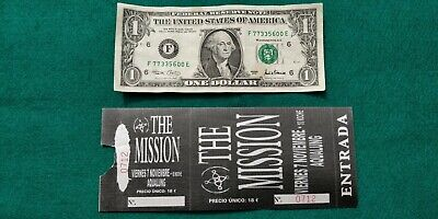THE MISSION  UNUSED TICKET  Spain FREE SHIPPING WORLDWIDE WITH TRACKING