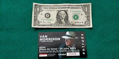 VAN MORRISON   UNUSED TICKET  Spain FREE SHIPPING WORLDWIDE WITH TRACKING