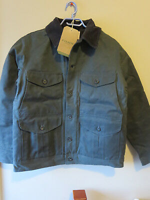 Mens New Filson Journeyman Insulated Jacket Size Small Color Charcoal