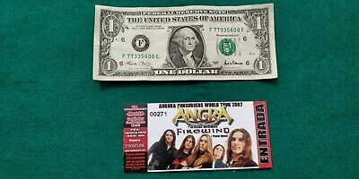 ANGRA FIREWIND  UNUSED TICKET  Spain FREE SHIPPING WORLDWIDE WITH TRACKING