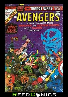 THANOS WARS INFINITY ORIGIN OMNIBUS HARDCOVER STARLIN DM VARIANT (800 Pages)