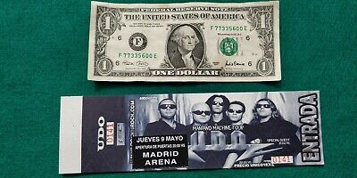 UDO 2002 UNUSED TICKET Spain FREE SHIPPING WORLDWIDE WITH TRACKING