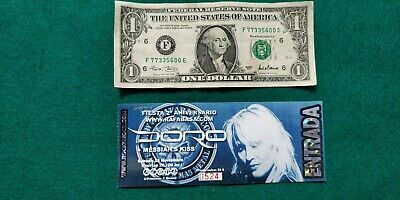 DORO MESSIAHS KISS UNUSED TICKET Spain FREE SHIPPING WORLDWIDE WITH TRACKING