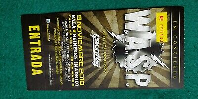WASP UNUSED TICKET Spain FREE SHIPPING WORLDWIDE WITH TRACKING