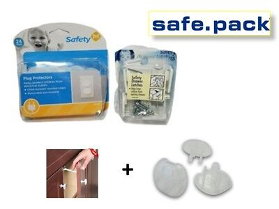 Safety 1st Combo Pack Wide grip cabinet locks Latches & plug plug protectors