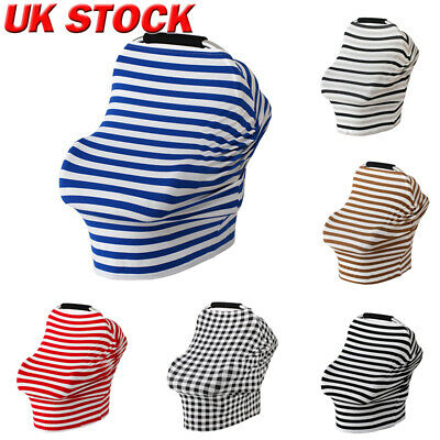 5in1 Nursing Scarf Cover Up Apron for Breastfeeding & Baby Car Seat Canopy Cover