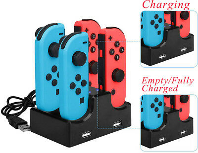 HOT Joy-Con Charging Station Stand 4 in 1 For Nintendo Switch Joycon Controllers