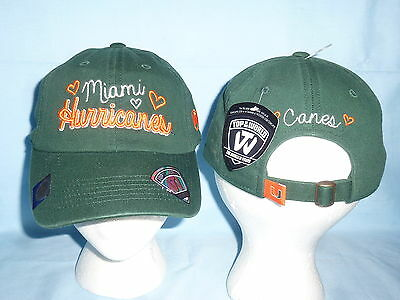 official photos 5e141 27c43 MIAMI HURRICANES Sweetie style CAP HAT T.O.W. Womens OSFA size NWT  22  retail
