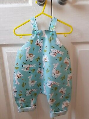 Girls Romper dungarees/handmade/summer/cotton/age 6 months to 4 years