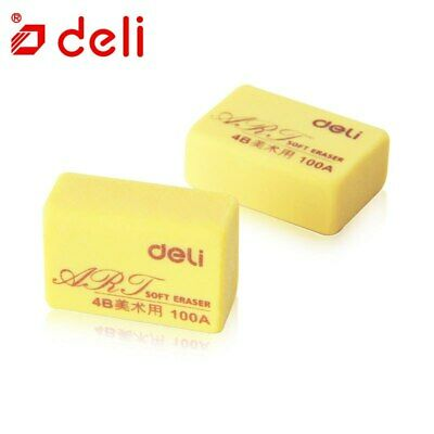 Deli® Eraser 2pc/lot Pure Color Pencil Art Sketch Painting Writing Erasers 4B