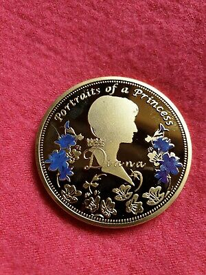 Rare collectable Princess Lady Diana Gold Coin and Jewel Signed