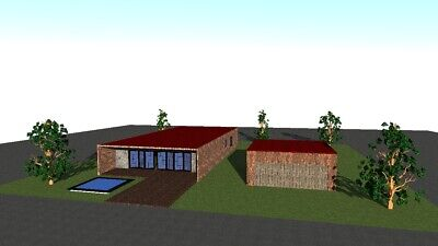 Single house plans (140-210 sq meters - 1506-2250 sq feet)