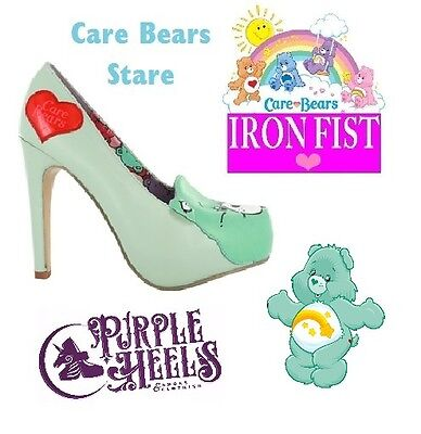 d8acfb1cd9 Iron Fist Care Bears Stare Mint Wish Platform Heel UK7 EU40 or UK8 EU41