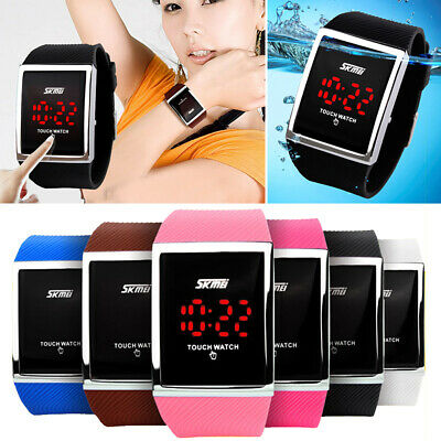 faf3886e3 SKMEI Touch Screen Digital LED Waterproof Boys Girls Sport Casual Wrist  Watches