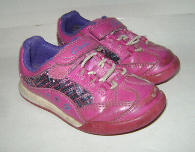 Clarks Toddler Girls Shoes Sneakers size 7 F M PINK LEATHER COMFY & CUTE