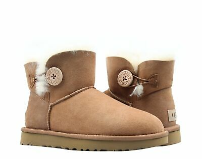 e32c4979c2c UGG WOMEN'S MINI Bailey Button 2 II 1016422 in Black or Chestnut NEW ...