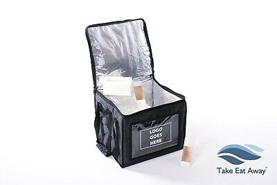 Logo your Delivery Bags-Insulated Bag Take Away Drivers Hot/Cold Food/Drink C171