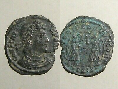 CONSTANS BRONZE AE4___Youngest Son of Constantine the Great___2 VICTORIES