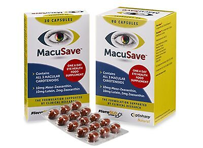 MacuSave Eye Supplement with Meso-zeaxanthin Lutein capsules AREDS  Macular NEW
