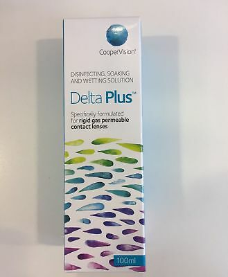 CooperVision Delta Plus 100ml Formerly Sauflon Soaking Disinfecting Wetting