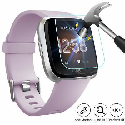 For Fitbit Versa /Versa Lite Screen Protector Tempered Full Coverage Glass Guard