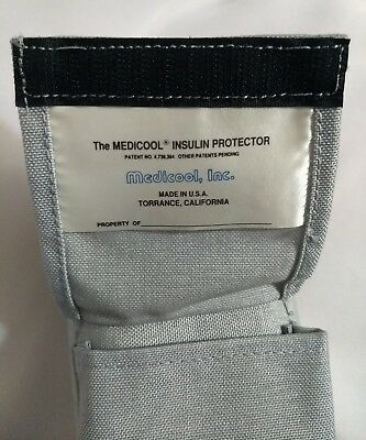 Medicool Insulin Protector Cooler Gray Pouch with Pocket