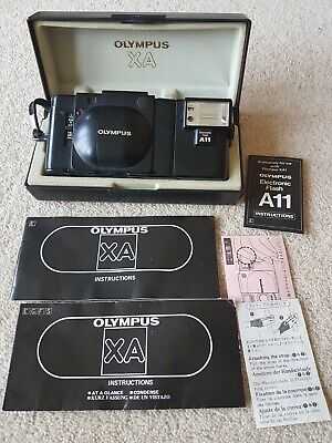 Olympus XA with A11 flash with box and instructions