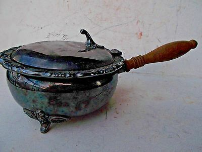 Towle E.P. #2960 Silver Plated Silent Butler, Footed w/ Wooden Handle