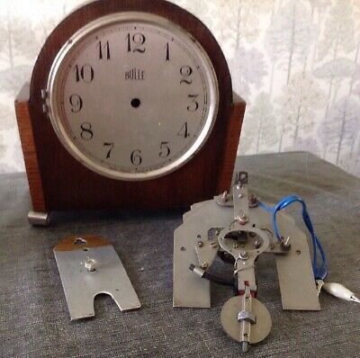 Antique Bulle Clock To Rebuild Restore Or Spare Parts Case 22x22x10cm Overall.