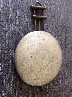 Antique Clock Pendulum 31g 65mm Diameter 115mm Long