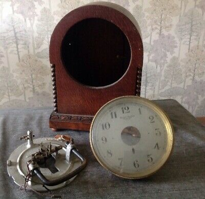 Antique Bulle Clock To Rebuild Restore Or Spare Parts Case 30x22x13cm Overall.