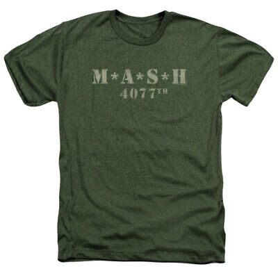 Mash Distressed Logo 4077th Men's T-shirt Heathered Style Small