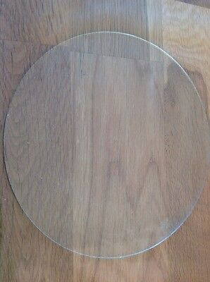 Vintage Clock Glass Round Flat 177mm