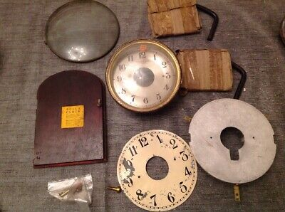 Antique Bulle Clock Parts Bezel Faces Frames To Restore Ex Clockmakers Spares