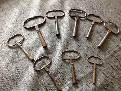 Good Selection of Vienna Type  Antique Vintage Clock Keys