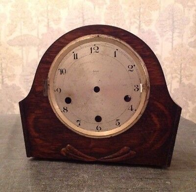 Antique Mantle Clock Case 25x22x10cm