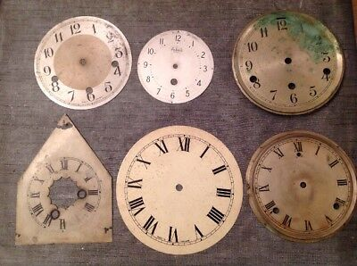 Antique Clock Dials Faces Bezels 115-177mm Diameter Ex Clockmakers Spare Part