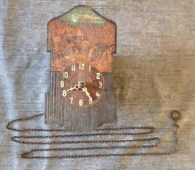 Antique Cuckoo Clock Style, 10x18x6cm For Restoration, Clockmakers Parts
