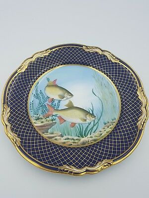 1925 Spode Fine Bone China R 9089 Flowers in Basket Hand Painted Dinner Plate