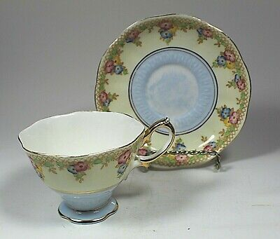 Vintage Royal Albert England Bone China Trellis Pattern Cup and Saucer