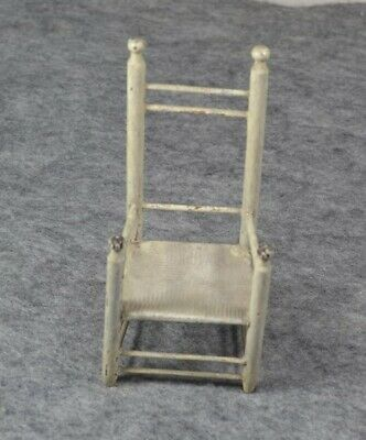 chair miniature doll house wood ladder back mayflower 17thc replica vg