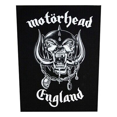 XLG Motorhead England Back Patch Rock Band Metal Music Jacket Sew On Applique
