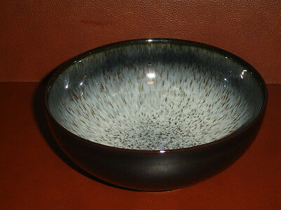 New Denby Halo 1 Cereal Soup Bowl Plate Pottery Stoneware Black White