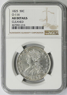 1825 O-116 Capped Bust Half Dollar Silver 50C AU Details NGC