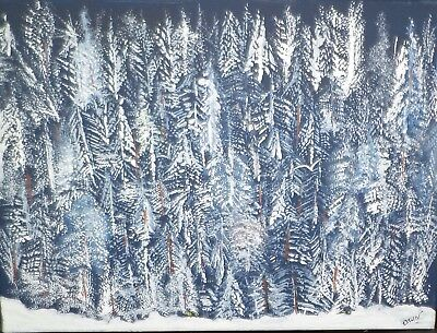 Snowy Woods Painting 121 999 Picclick