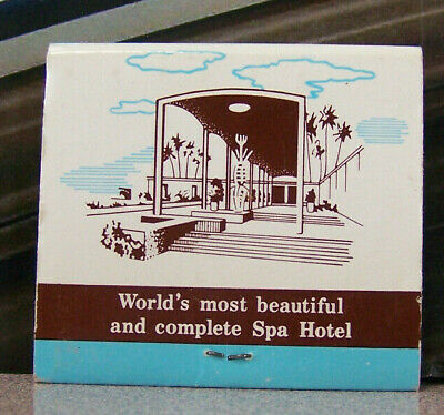 Vintage Matchbook G4 Palm Springs California Spa Hotel Mineral Springs Beautiful