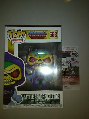 Motu Battle Armor Skeletor Funko Pop #563 - Signed By Alan Oppenheimer - Jsa