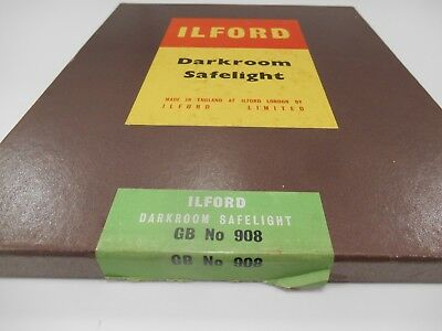 Safelight GB 908 Ilford Darkroom Safe Light 12 x 10  Panchromatic Plate Film